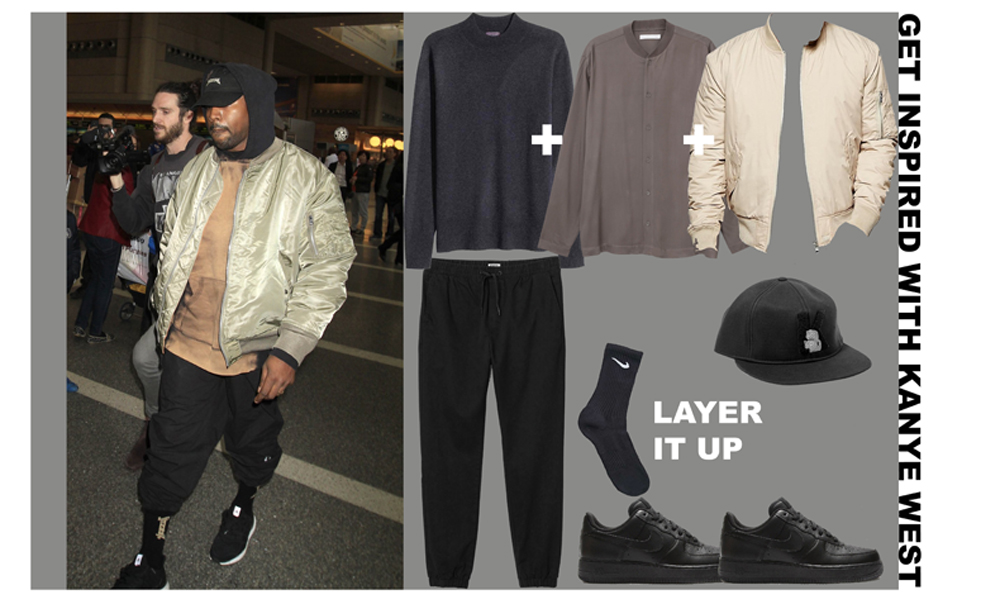 8e1847a75575 I love Kanye West's style; he does layering like a pro with the best use of  tonal colours. I though this outfit was very casual and comfy, and what  more to ...